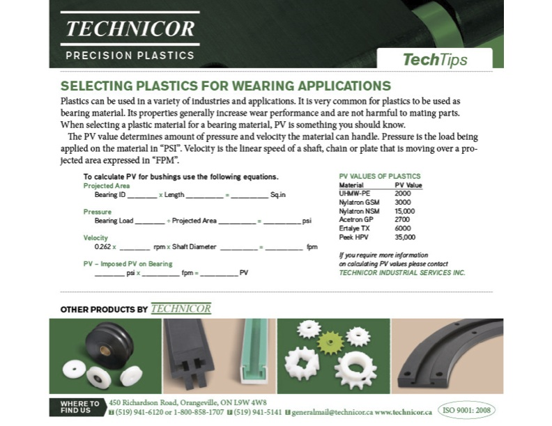 Selecting Plastics for Wearing Applications