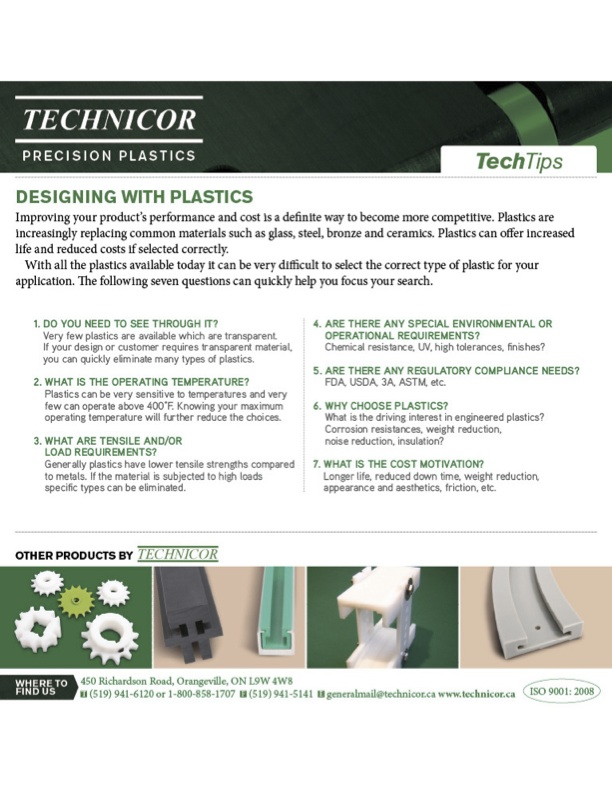 Designing With Plastics – 7 Questions – Technicor Precision Plastics